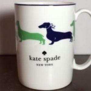 kate spade single dachshund mug.